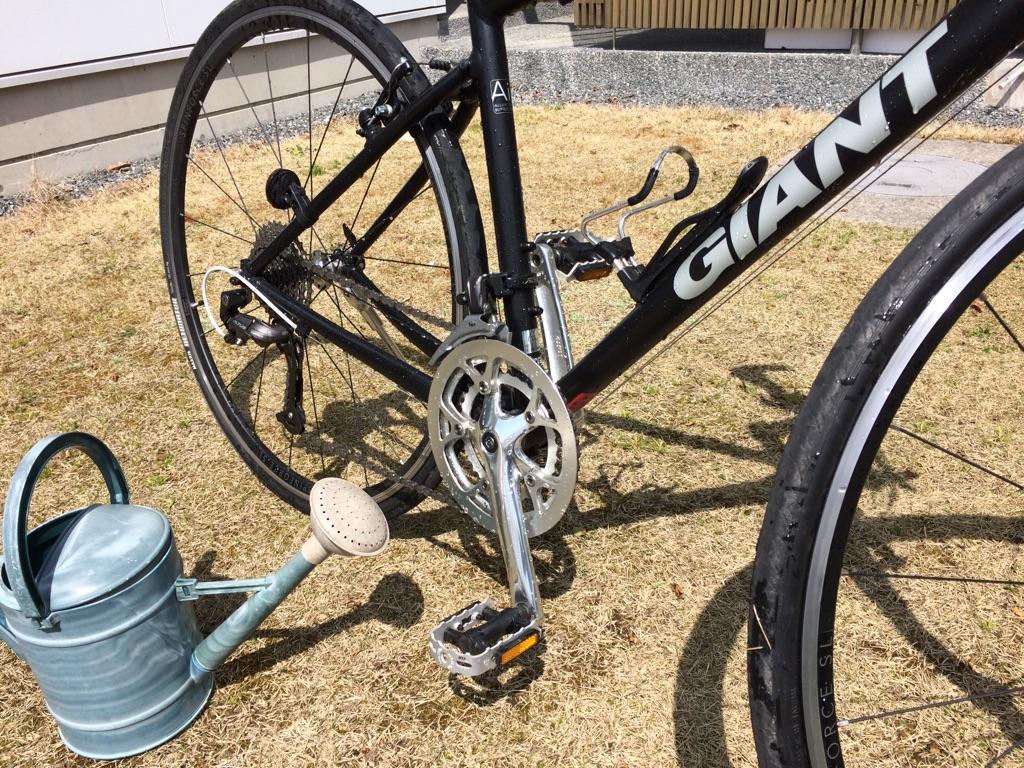 たまには自転車を水洗い:簡単にでもキレイになります